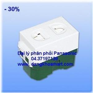 Ổ cắm đơn có màn che Panasonic WEV1081-7
