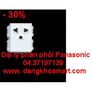 Ổ cắm đơn 3 chấu không màn che Panasonic WEV1191