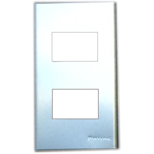 Mặt 2 thiết bị kim loại nhôm vân xước Panasonic WEG6502-1